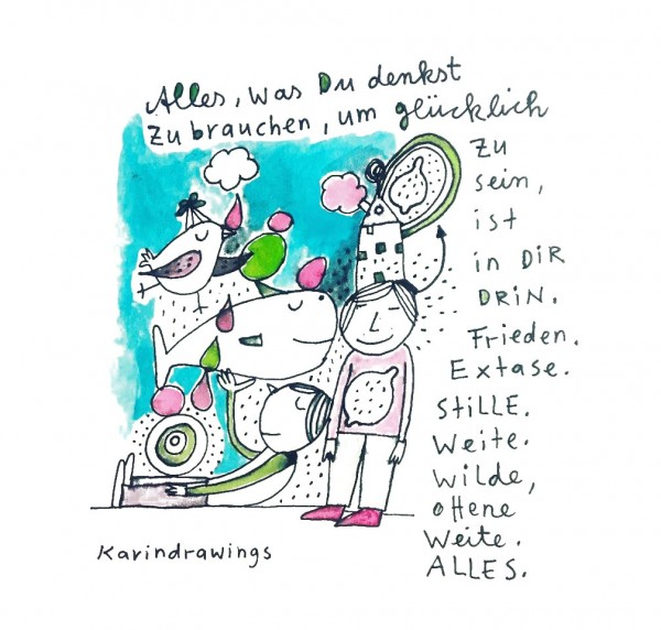 Digitaldruck - Alles, was Du denkst - DIN A5/A4 - karindrawings