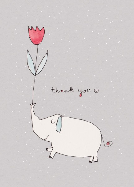 Kärtchen - Big thank you - 10 x DIN A7 - karindrawings