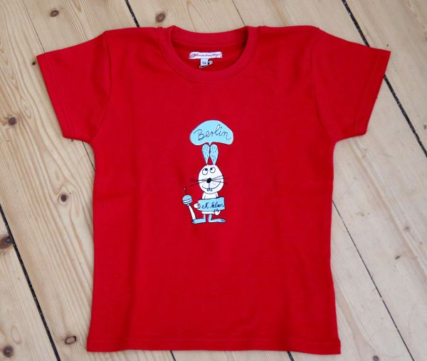 Kindershirt Hase Rot Berlin