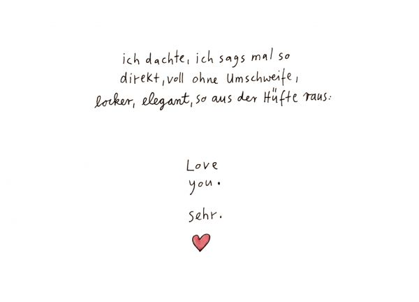 "Postkarte ""love you sehr"""